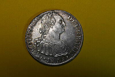 Carlos Iv - 8 Reales 1808 - Lima Jp - Spanish Colonial Silver Coin - Charles Iv