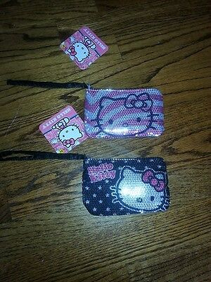 Hello Kitty Sequins Wristlets by Sanrio NWT! Each Sold Separately