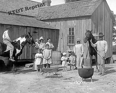 Photograph of  Vintage Western Texas Family Farmers Year 1913  8x10