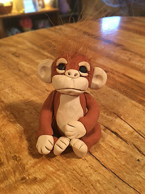 Adorable Orangutan Figurine -  New OOAK - Handmade