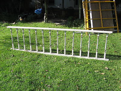 Antique Vintage Victorian Wood Architectural Porch Railing Balustrade Fence 114""