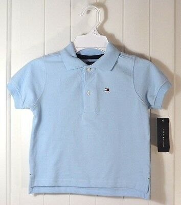 Nwt Boy Toddler Kid Tommy Hilfiger Blue Short Sleev Rugby Polo Tshirt Sz 2T 3T 5