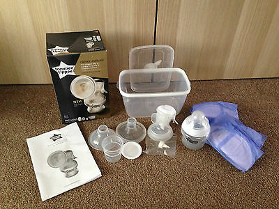 Tommee Tippee Closer To Nature Manual Breast Pump In Box-Used Once
