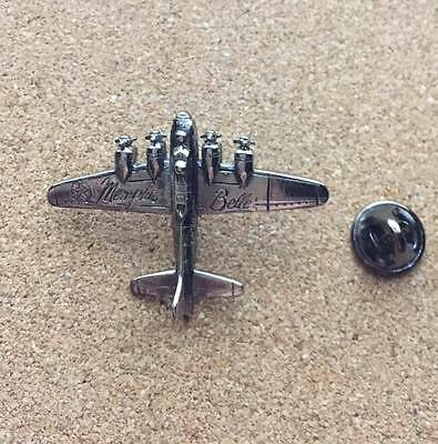 Rare 1990 Memphis Belle Metal Movie Promo Pin - Wwii B-17 Bomber Plane Button