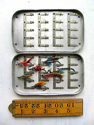 Wheatley (F226) Aluminium Salmon & Sea Trout Fly Box with Salmon Flies