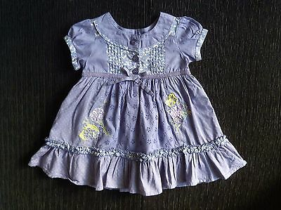 Baby clothes GIRL 3-6m NEXT violet cotton short sl embroidery dress underskirt