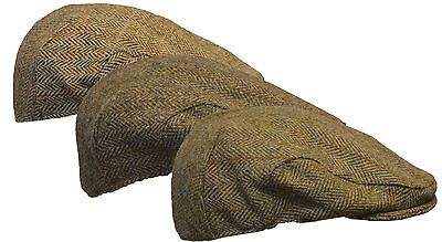 09c6e56959c Walker   Hawkes Harris Tweed SCOTTISH Flat Cap 100% Wool Country Hat S-2XL