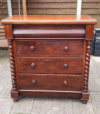 Large victorian chest of drawers - delivery available
