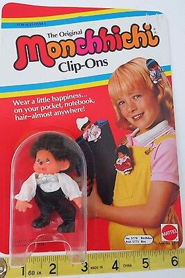 "The Original Monchhichi Clip Ons - ""Birthday Boy"" New In Box"