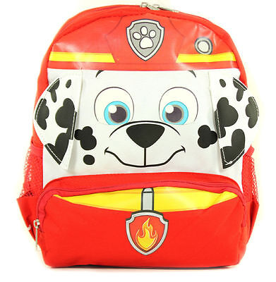 Paw Patrol 12 Inch Small Toddler Cloth Backpack Red -Marshall