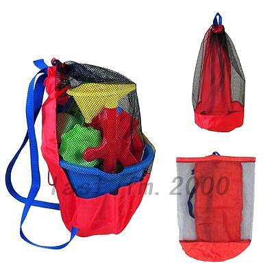 Mesh Beach Bag Pool Toys Storage Bags Drawstring Backpack Large Toy Tote Hot