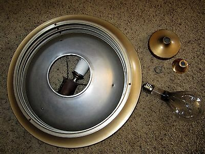 FLYING SAUCER Round Mid Century Ceiling Light Fixture Aluminum Industrial Modern