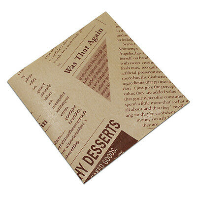 Food Grade Grease Kraft Paper Food Wrappers for Bread Sandwich Burger Fries