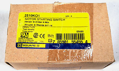 Square D 2510KO1 Motor Starting Switch 2 Pole / 1 Phase 30A NEW