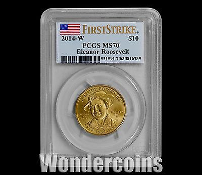 2014-W $10 Eleanor Roosevelt Spouse Gold PCGS MS70 FIRST STRIKE -A Key to Series