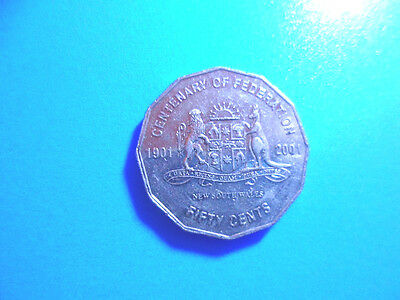 Australian Centenary of federation New South Wales 50c coin