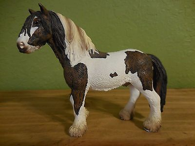 2007 Schleich Germany Stallion Spotted Horse Brown/White Collectible USED