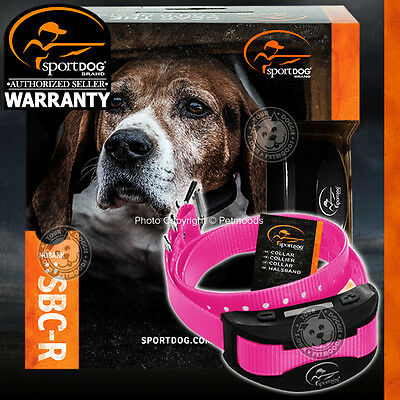 SportDOG No Bark SBC-R Rechargeable Dog Collar Stop Barking Submersible Pink