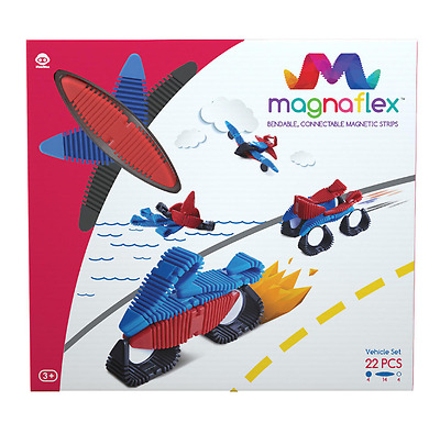 WowWee Magnaflex Vehicles Magnetic Strips Set 22 Piece Flexible Bend Connect New