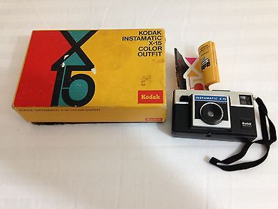Vintage Kodak Instamatic X-15 35mm Film Camera With Box and Instructions