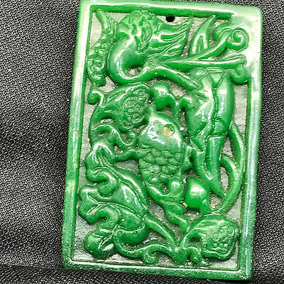 Old Chinese Neolithic xiuyu jade Hand carved Amulet Pendant    U545