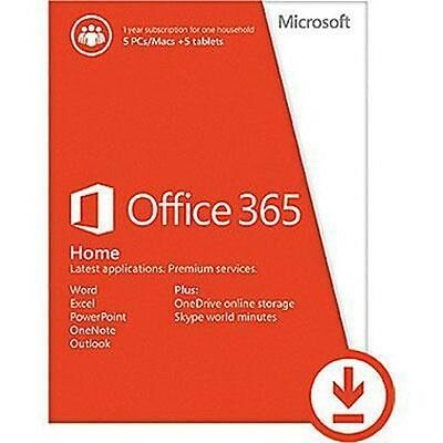 Office365Home P2 French Sub 6GQ-00635 Microsoft Software