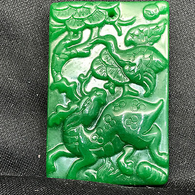 Old Chinese Neolithic xiuyu jade Hand carved Amulet Pendant    U551