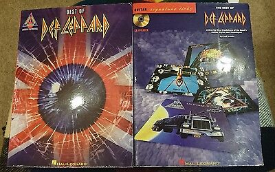 Def Leppard: Guitar School The Best Of Def Leppard Music Book With Tabs - Rare