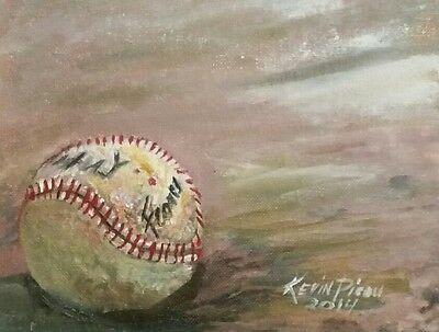 Baseball Art Original oil Painting 8x10 Signed by Artist Kevin Picou