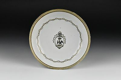 18th Century Chinese Export Armorial Porcelain Dish