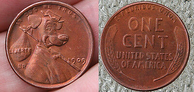 7 Different Hobo Pennies.