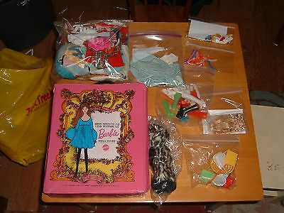 VINTAGE 1968 Original BARBIE Carrying Case and LARGE SELECTION of CLOTHES/ACC.