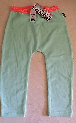 BNWT Baby Boy's/Girl's Unisex Bonds Stretchies Green Pants/Leggings Size 1 One