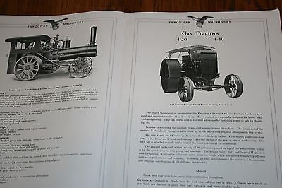 1916 AB Farquhar Steam Engines Gas Tractors Gas Engines Advertising Sale Catalog