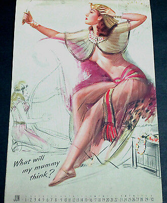 Munson June 1946 Calendar Page, What Will My Mummy Think?