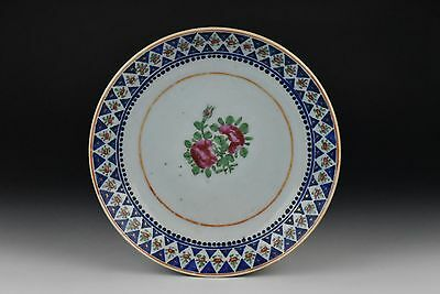 Antique 18th Century Chinese Export Porcelain Plate