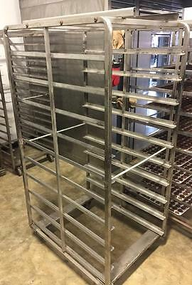 Commercial Kitchen 3 Rolling Bakery Racks Carts Oven Aluminum Holds 20-22 Pans