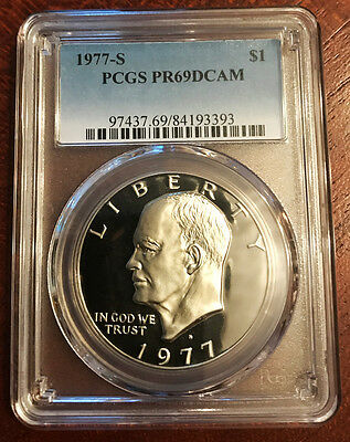 1977 S $1 Ike Eisenhower Dollar Proof PCGS PR69DCAM ~ Free Shipping