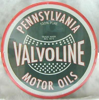 Old Fashion Style Valvoline Oil and Gas Metal Sign NEW
