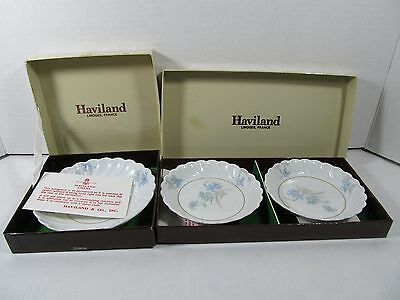 Lot of 3 New in Box Vintage Haviland Limoges Mini Plate Sets SIGNED