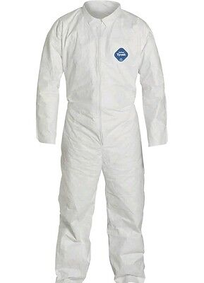 Dupont Tyvek TY120Safety Coverall, Size Large, 25 per Case