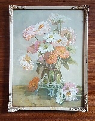 Antique Frame and Floral Print