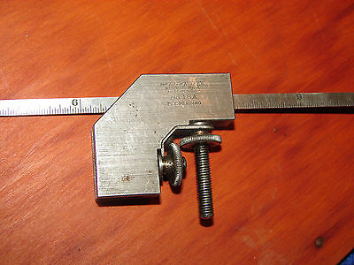 "vintage Lufkin No.18A right angle combination square with Starrett 330 12"" rule"