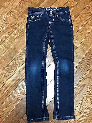 Girl's Justice Jeggings, Size 6R, Dark Wash, Skinny Legs