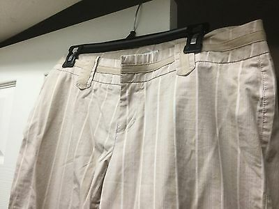 Tweeds Beige Cotton Capri Pants Women's 8