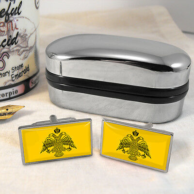Byzantine Empire Flag Cufflinks & Box