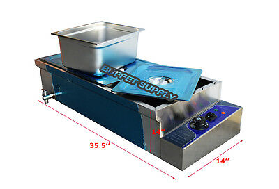 3-PANS LARGE CAPACITY BAIN MARIE Steam Table Food Warmer