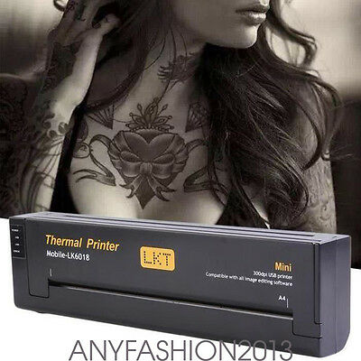Portable USB Tattoo Machine de transfert thermique Copier Stencil Flash Printer
