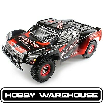 1/12 2.4GHz High Speed RC Climbing Truck with Bright LED Light - Black with Red