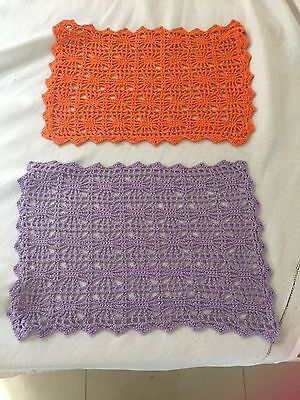 Placemats Retro Hand Crochetted X 12 Never Used From The 70'S
